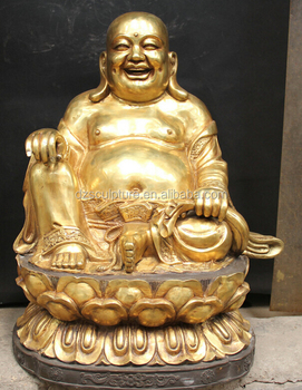 large gold plated laughing buddha bronze statue for sale buy happy