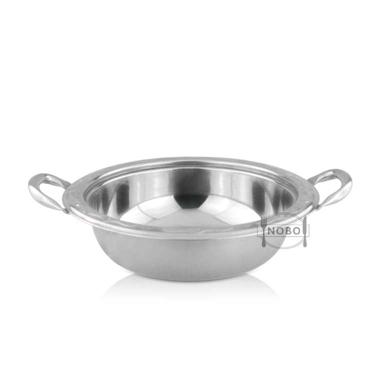 Cheap price stainless steel stock pot india hot pot with double handle