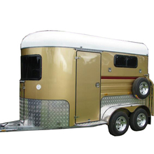 China cheap classic two horse float trailer