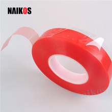 Transparent Double Sided Red Tape Acrylic Tape (Red PET Double-sided Tape)