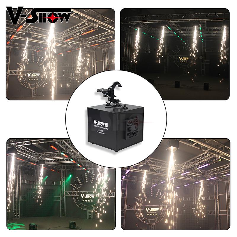 650W Dmx Waterval Sterretje Vuurwerk Elektrische Vonk Machine Voor Podium Speciaal Effect Met Afstandsbediening