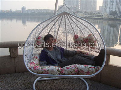 Wholesale Outdoor Hanging Egg Chair Rattan Double Hanging Chair
