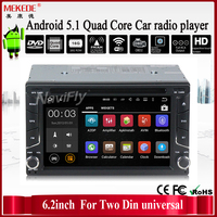 6.2 inch android 5.1.1 os car stereo dvd cassette player special for Two din universal support gps and 16G ROM