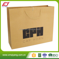 Customized logo trendy shopping recycled paper bag