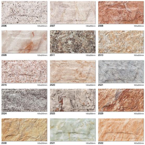Mattonelle di pietra per piastrelle in gres porcellanato per esterni l 39 installazione di - Piastrelle muro pietra ...