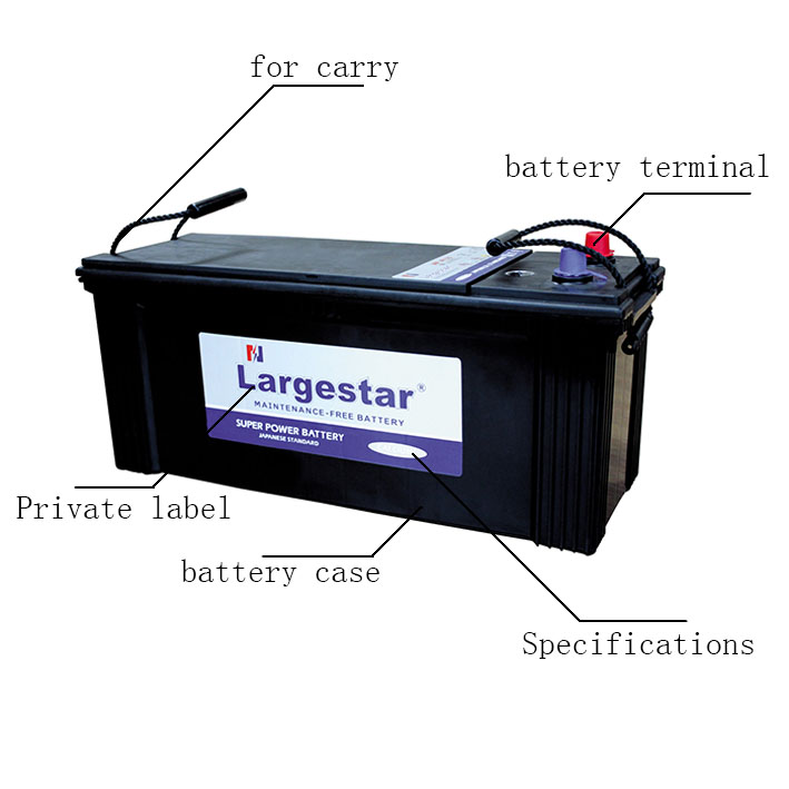 12v Mfn120 Dry Cell Low Self-discharge Car Battery