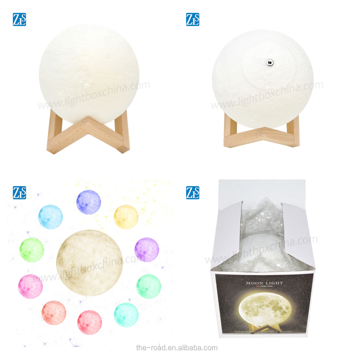 2019 Amazon Trending Product, 3D LED Moon Table Lamp Home Decor