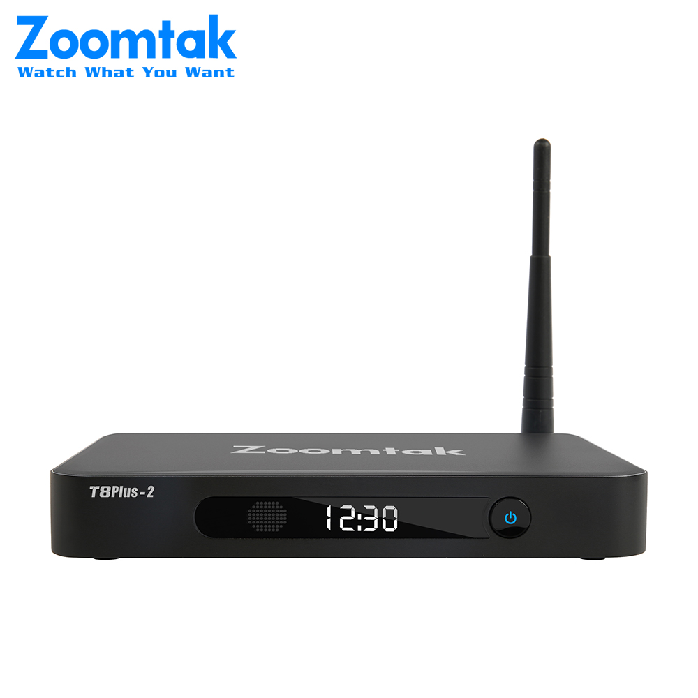 4K Streaming tv box Zoomtak T8 plus-2 OTT tv box arabic iptv set top box metal case