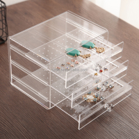 fashion clear jewelry stand acrylic earring display for sale