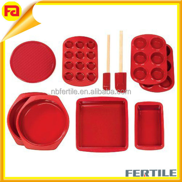Silicone Baking Products Silicone Bakeware Set 18 Piece