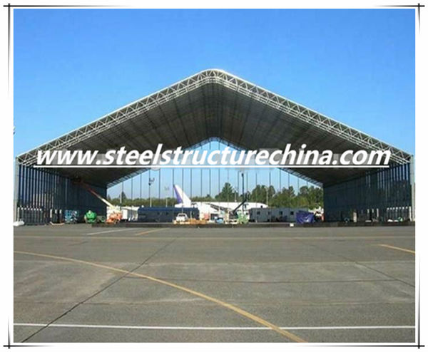 Large span steel structure aircraft hangar and shed