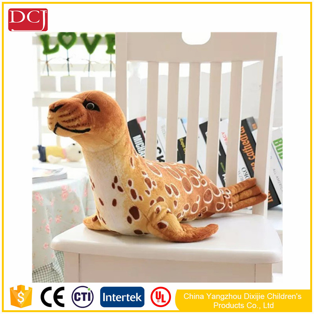 Any size and color gift 100% pp stuffing simulation dolls seals stuffed animal animals pillow baby toys
