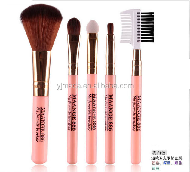 5pcs wholesale good quality custom logo cosmetic beauty tools makeup brush set