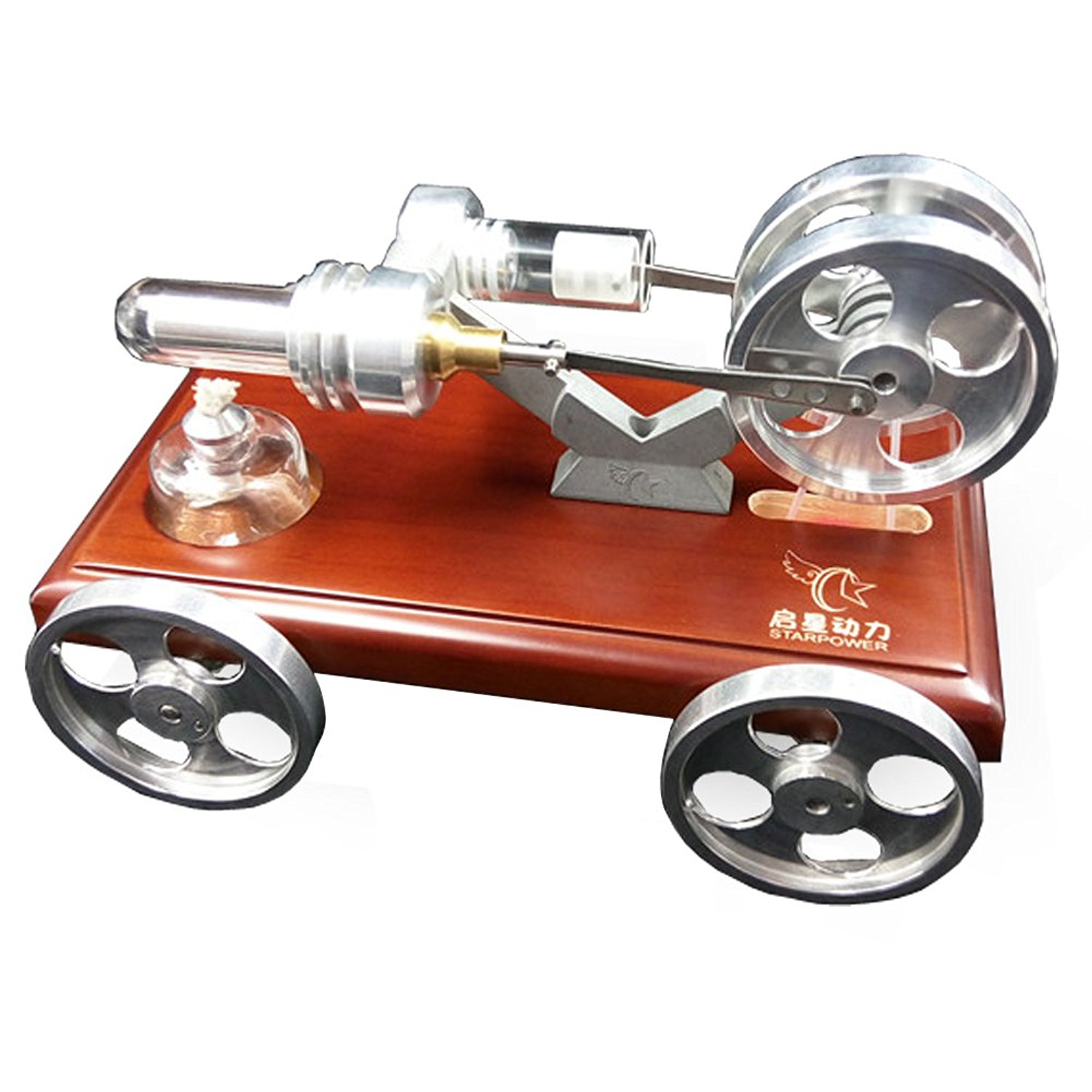 Teroys®Mini Hot Air Stirling Engine Motor, Low Temperature Stirling Engine Kit, Model Car Kit, Educational Toy Electricity Power Generator, Stream Hit Education Model Toy Kit