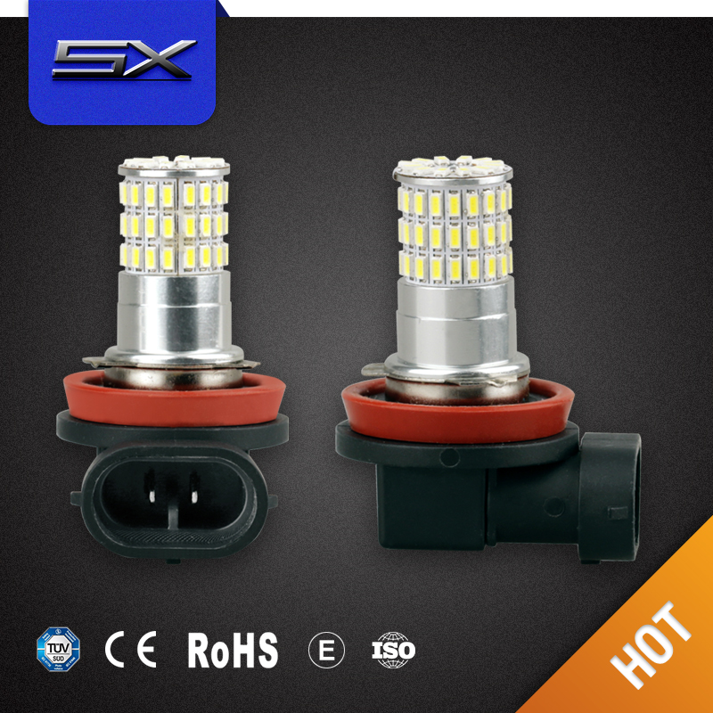 Hot sell 50 PCS H11 66SMD 3014 Fog Light Automotive Led Auto Bulb,Led Auto Lamp,Led Car fog lamp