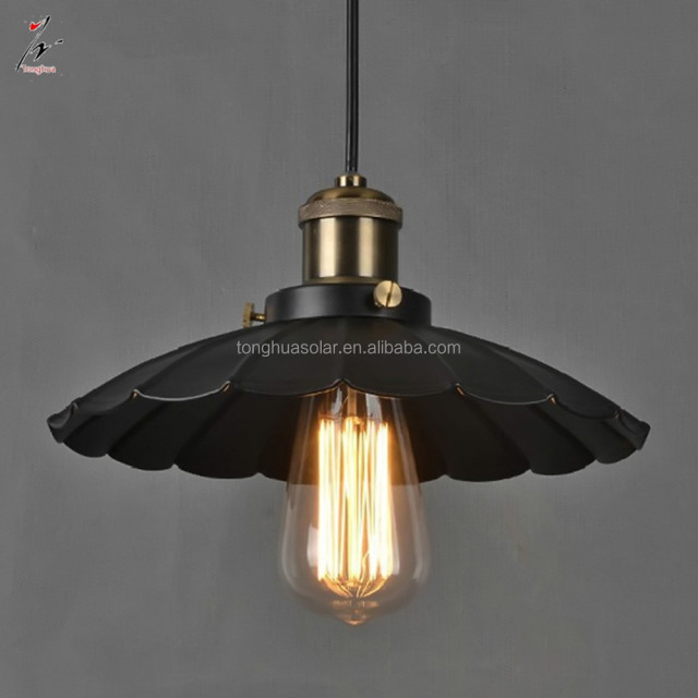 China Iron Industrial Lighting. Products Below. Industrial Retro Iron  Pendant Light Lotus Leaf Metal Cover Hanging Lamps E27 E26