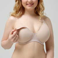 Womens Nursing Bra Full Cup Plus Size Maternity Underwear With Steel Ring