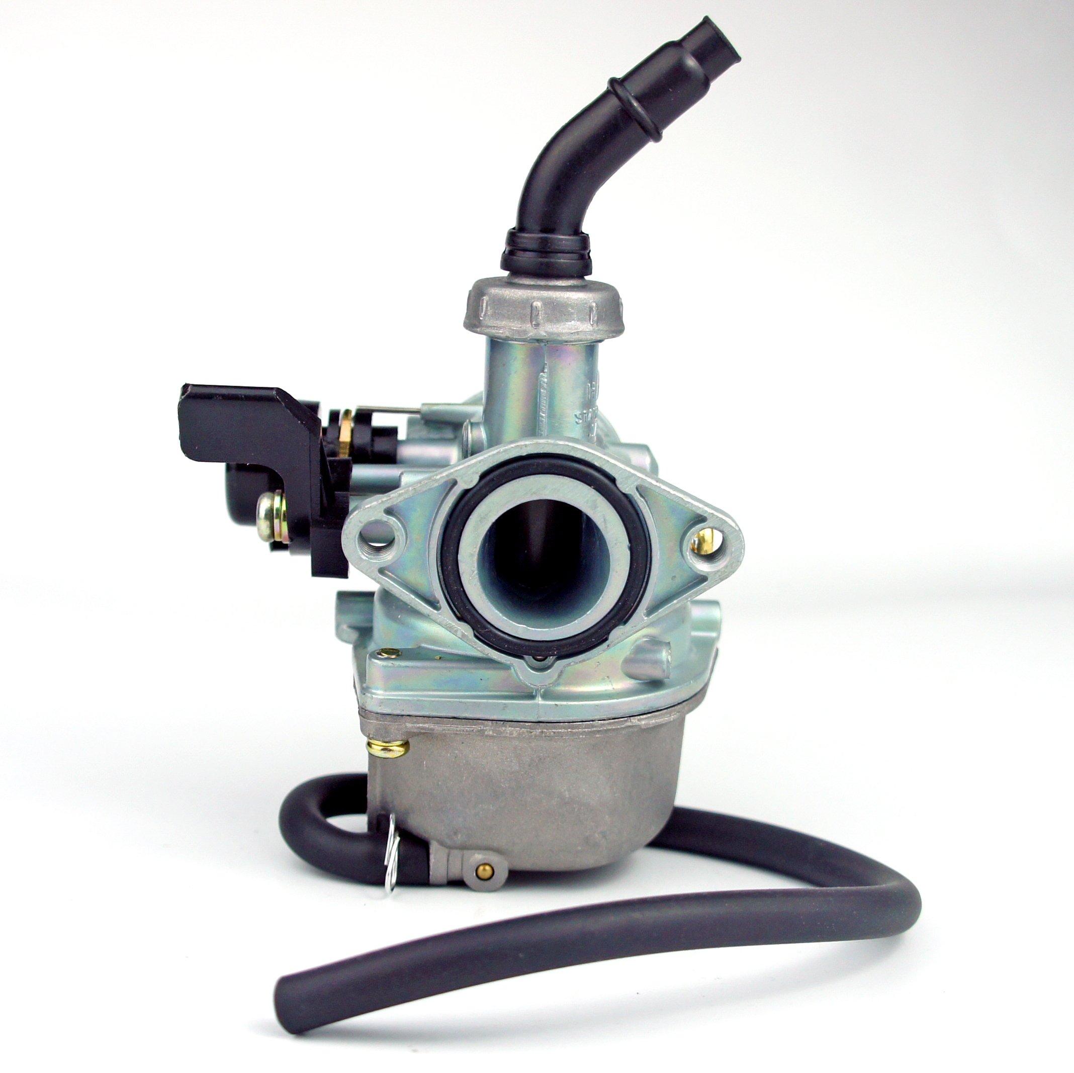 Cable Choke Carburetor PZ19 With CHOKE LEVER For 50cc 70cc 90cc 110cc 125cc kids' ATV, GO-KART, DIRT BIKE, POCKET BIKE 19mm Carb ( Hand Choke Lever)