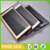 Solar Power Bank Waterproof Portable Solar Charger Dual USB External Battery Backup With Flashlight
