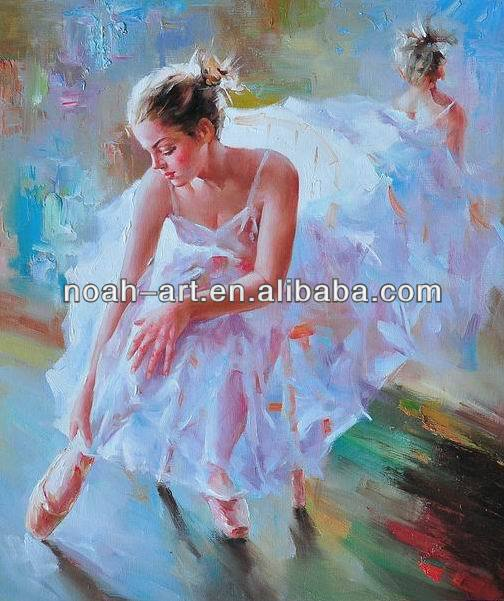 Wall Art Impressionist Ballet Painting