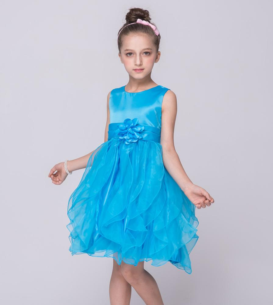 European Style Kid Party Dress Flower Girl Dresses For 6 Years Old ...