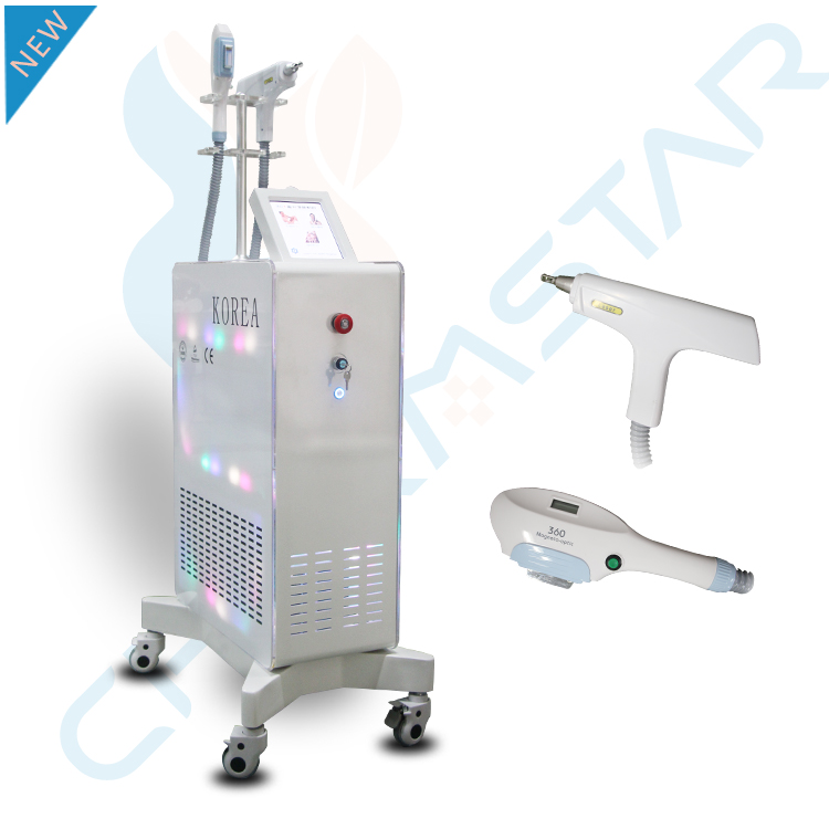 360 Magneto-optic hair removal ND YAG Laser machine HAIR REMOVAL AND TATTOO REMOVAL