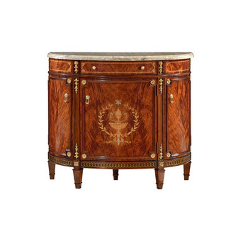 Aristocracy Antique Wood Console Table With Mirror