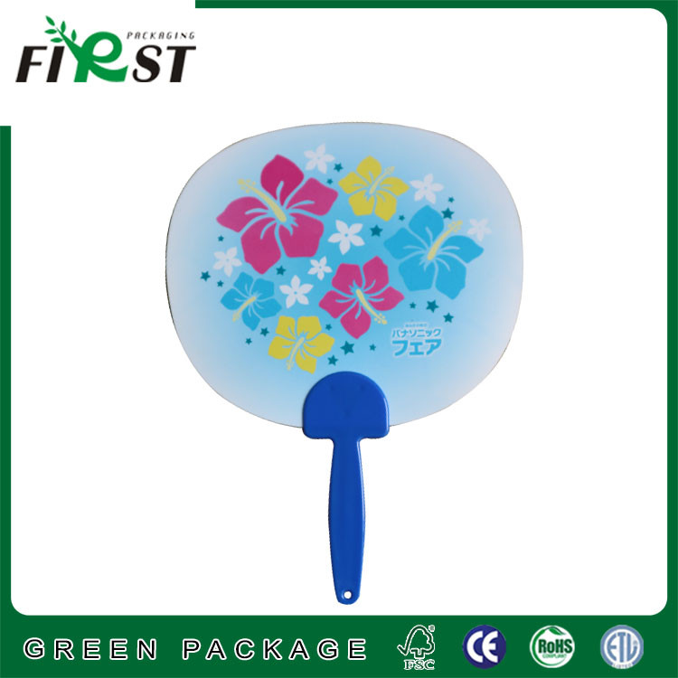 cheap price promotion gifts special shaped pp plastic hand fan