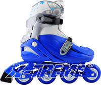 Popular sport shoe that manufacture adjustable PVC wheels quad ice skate shoes wholesale