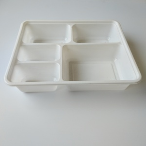 Microwaveable 5 compartment disposable food trays