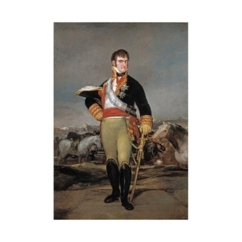 Francisco De Goya Giclee Canvas Print Paintings Poster Reproduction(?Portrait of King Fernando Vii At the Military Camp)