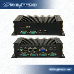 ZC-G28DL Industrial Control Computer Embeded Fanless Computer DC 12V Computer Support 6*COM,4*USB,2*Lan Port,1*HDMI,1*MINI PCIE