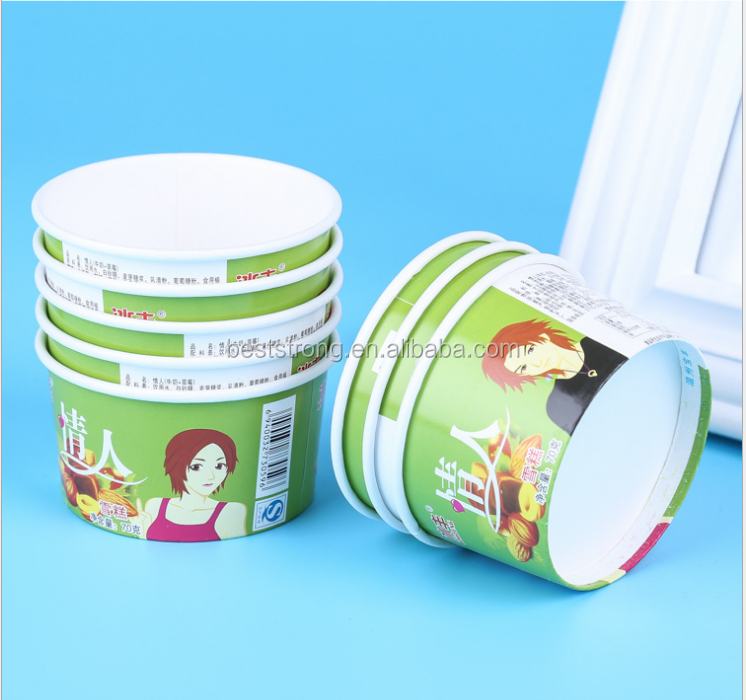 disposable icecream paper cup disposable bowls and lids