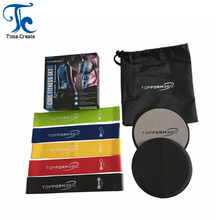 Core Sliders Zweefvliegen Discs en Resistance Bands <span class=keywords><strong>Oefening</strong></span> Apparatuur