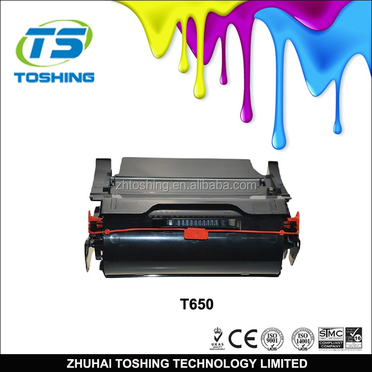 2017 Hot Sale Black Toner t650 Compatible Toner Cartridge use for Printer t650 652 654 656