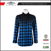 China factory long sleeve shirt plaid lady blouse women cotton blouses