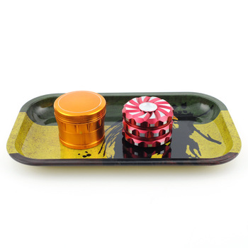 tobacco smoke shop accesories customize custom trays wholesale weed herb tin rolling tray