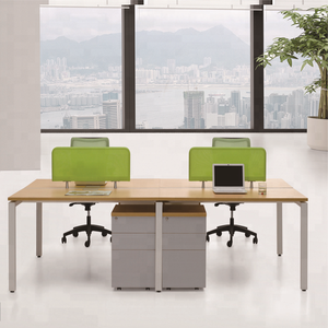 High quality modern table wood 4 person workstation executive computer office desk set