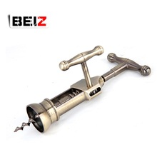 Hight Quality Household Antique Copper T-type Zinc Alloy Wine Opener Corkscrew