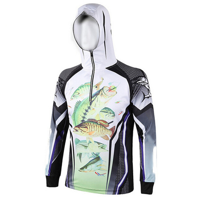 Dye Sublimation children Fishing Shirt men's long sleeve100% Polyester Cheap Fishing Shirts jersey