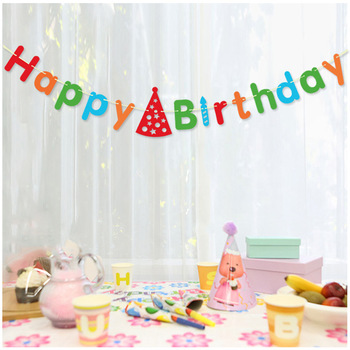 "Hot Sale Colorful Paper Banner ""HAPPY BIRTHDAY"" Banner for Party Decorations"