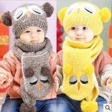 cap hats for children Portable Popular Set font b Winter b font Baby Hat Boy Girl