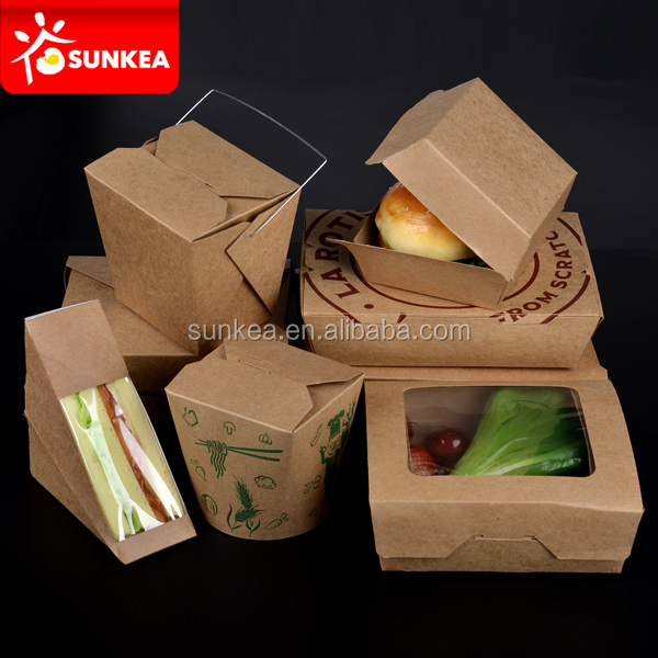 Takeaway Hot Food Box Chinese Noodles Rice Food Paper Box