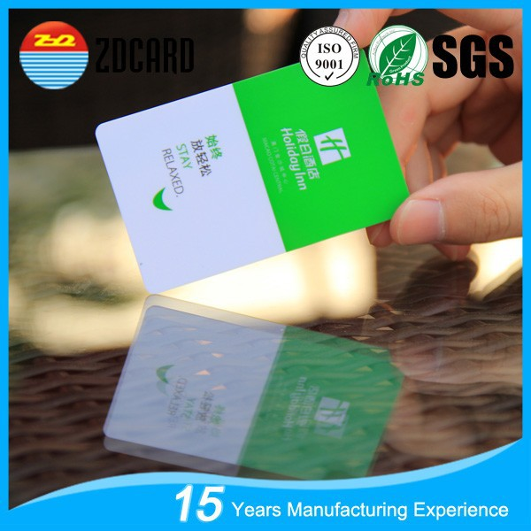 Beautiful Design PVC hotel Smart key card for Door