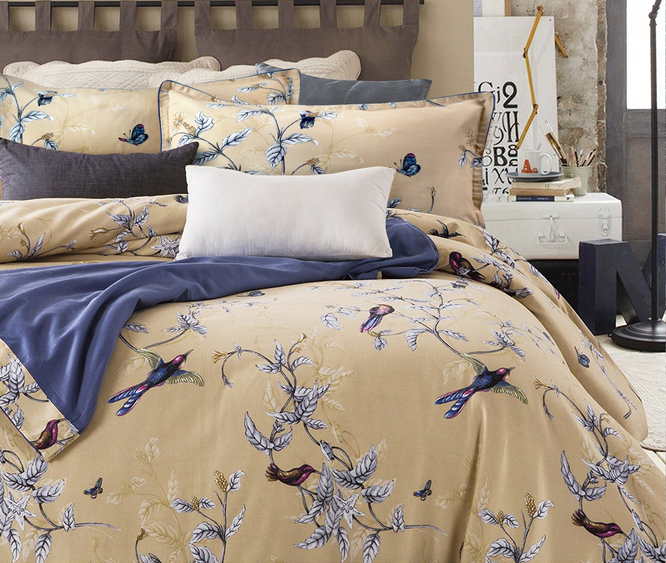 ruching floral piece homes walmart set gardens com bedding better ip vintage comforter and comforters