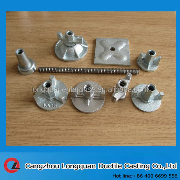 scaffold wing nut and tie rod accessories