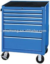 wholesale 7 drawers metal tool cabinet Single rail chest and drawers workbench tool trolley tool box with wheels