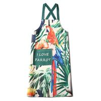 OEM customized printed logo kitchen baking cross strap apron