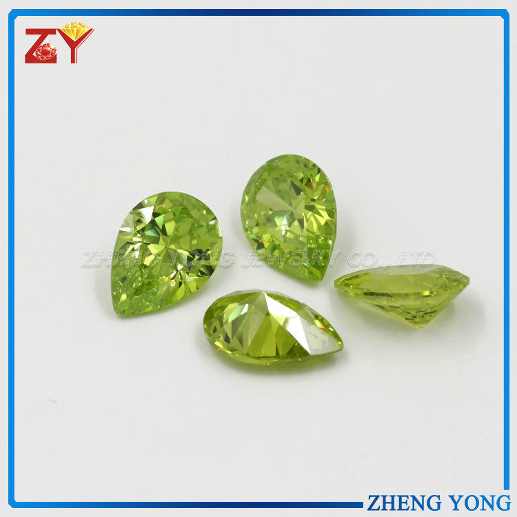 pear cut wholesale CZ stone beads gems for engagement ring