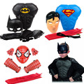 Superhero Capes Kids Mask Armor Cosplay Batman Superman Spidermen Props Costume Children s Day Birthday Party